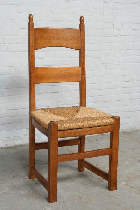 品番6905ヨーロッパ市場在庫品アンティーク家具ダイニング9点セット現地在庫商品1920年代フランス原産オーク製_画像9
