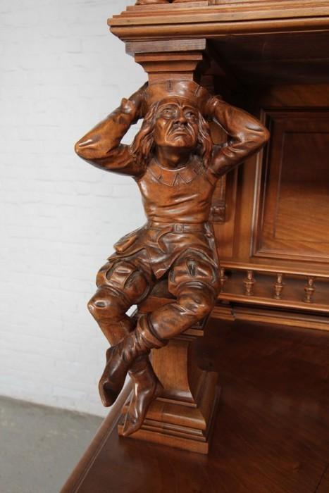 品番8544現地在庫販売フランス原産アンティーク家具ウォールナット製ダイニングルーム8点セット1890年_画像6
