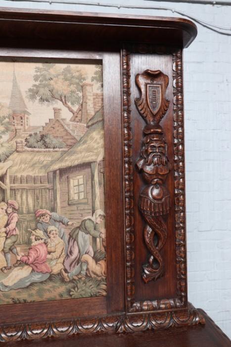 品番8980現地在庫販売フランス原産アンティーク家具オーク製ダイニングルーム9点セット1920年_画像5