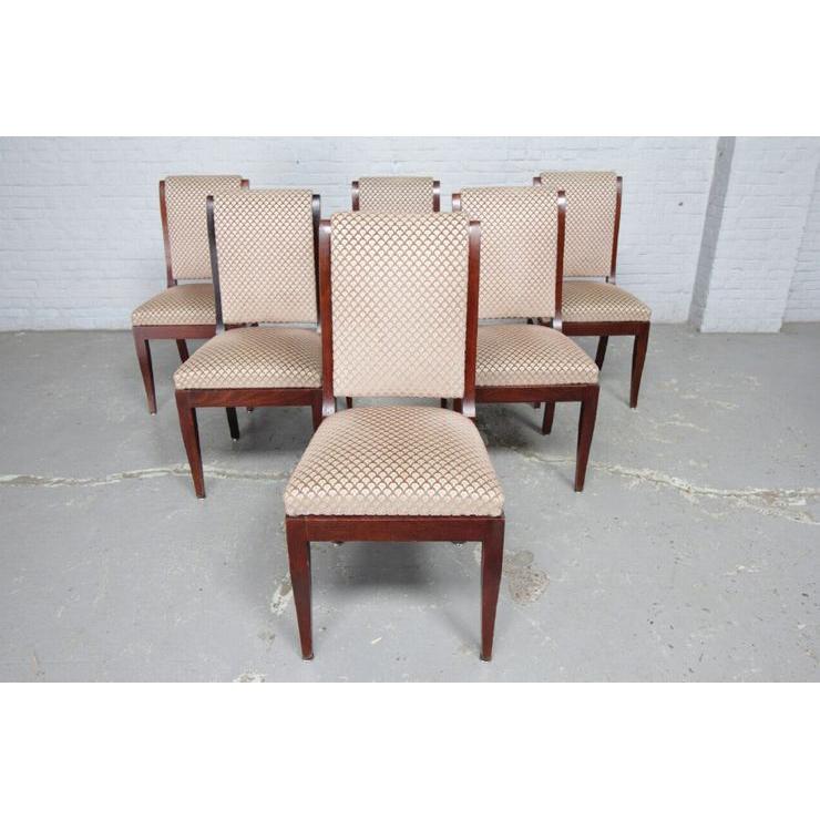品番8510現地在庫販売ベルギー原産アンティーク家具マホガニー製ダイニングルーム9点セット1950年_画像10