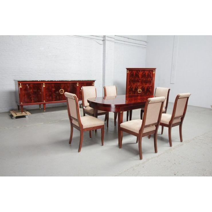 品番8510現地在庫販売ベルギー原産アンティーク家具マホガニー製ダイニングルーム9点セット1950年_画像1