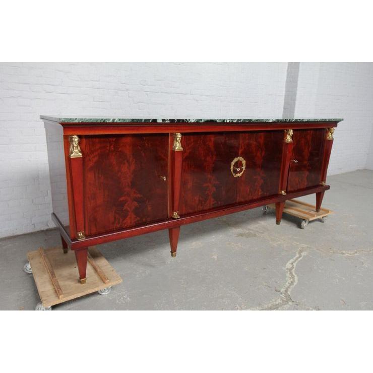 品番8510現地在庫販売ベルギー原産アンティーク家具マホガニー製ダイニングルーム9点セット1950年_画像2