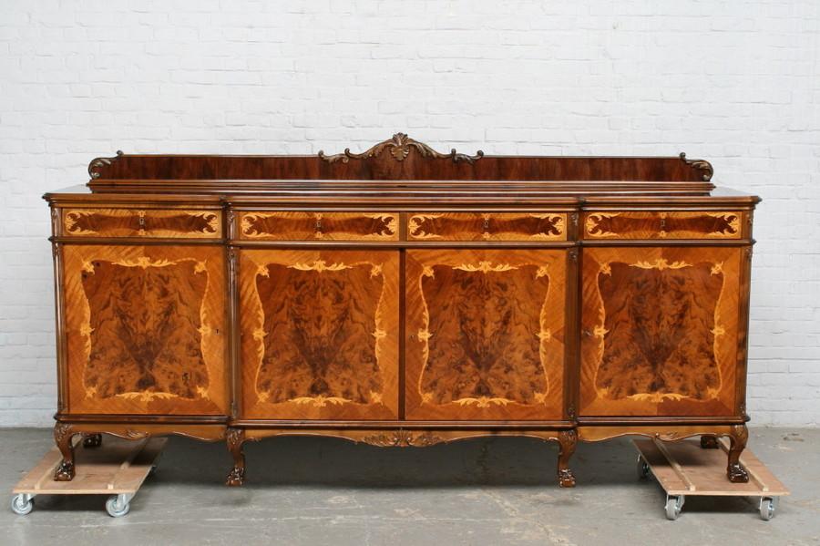 品番7181ヨーロッパ市場在庫品アンティーク家具ダイニング9点セット現地在庫商品1940年代ベルギー原産ウォールナット製_画像2