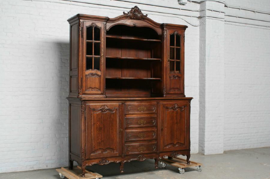 品番7302ヨーロッパ市場在庫品アンティーク家具ダイニング11点セット現地在庫商品1900年代フランス原産オーク製_画像2