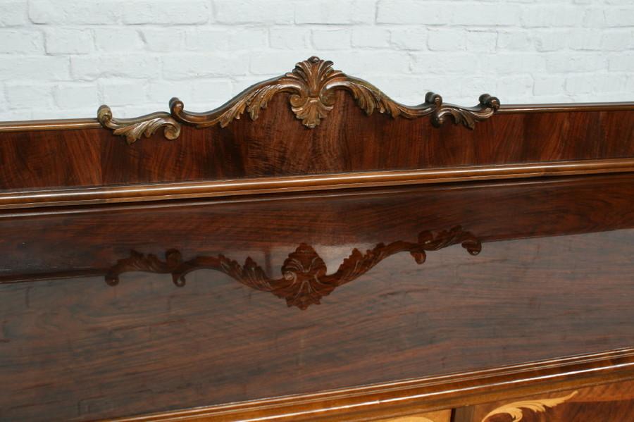 品番7181ヨーロッパ市場在庫品アンティーク家具ダイニング9点セット現地在庫商品1940年代ベルギー原産ウォールナット製_画像4