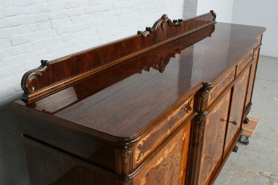 品番7181ヨーロッパ市場在庫品アンティーク家具ダイニング9点セット現地在庫商品1940年代ベルギー原産ウォールナット製_画像3