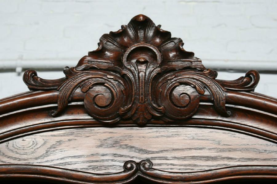 品番7302ヨーロッパ市場在庫品アンティーク家具ダイニング11点セット現地在庫商品1900年代フランス原産オーク製_画像3