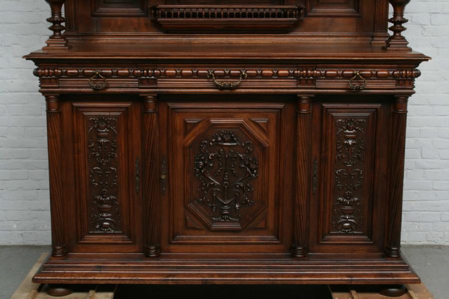 品番3650現地在庫販売フランス原産アンティーク家具ウォールナット製ダイニングルーム9点セット1890年_画像9