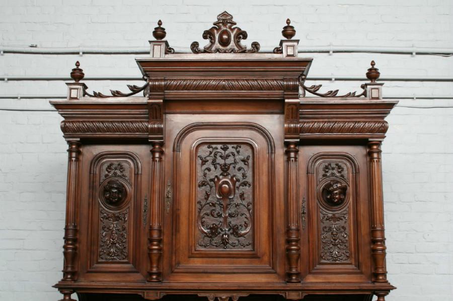 品番3650現地在庫販売フランス原産アンティーク家具ウォールナット製ダイニングルーム9点セット1890年_画像4