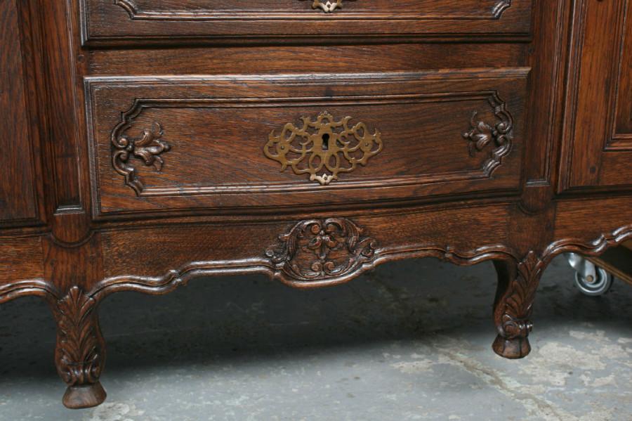品番7302ヨーロッパ市場在庫品アンティーク家具ダイニング11点セット現地在庫商品1900年代フランス原産オーク製_画像8