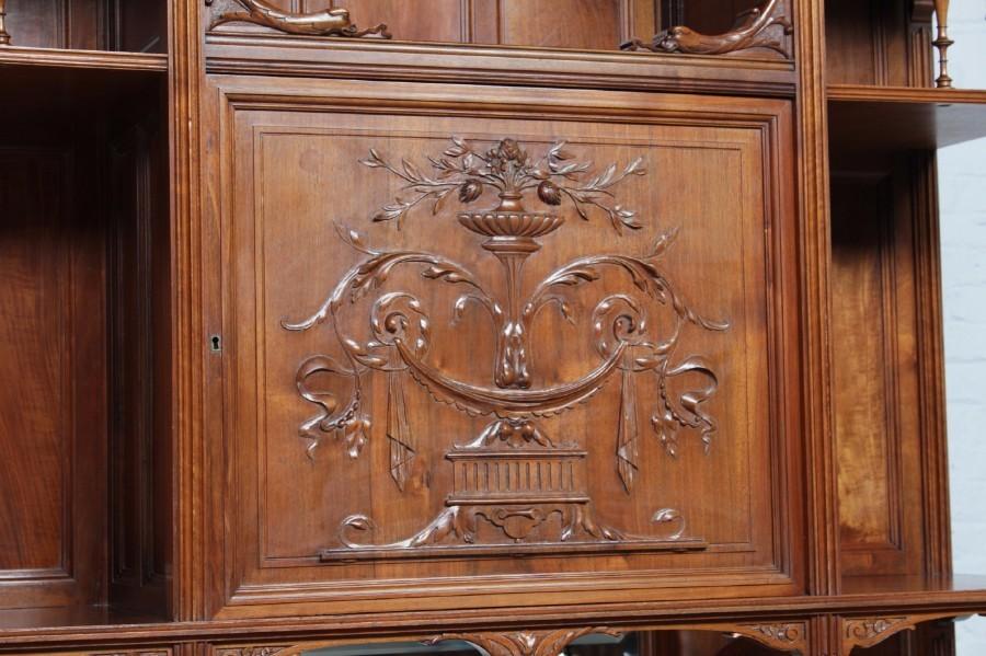 品番8023ヨーロッパ市場在庫品アンティーク家具ダイニング10点セット現地在庫商品1900年代ベルギー原産ウォールナット製_画像5