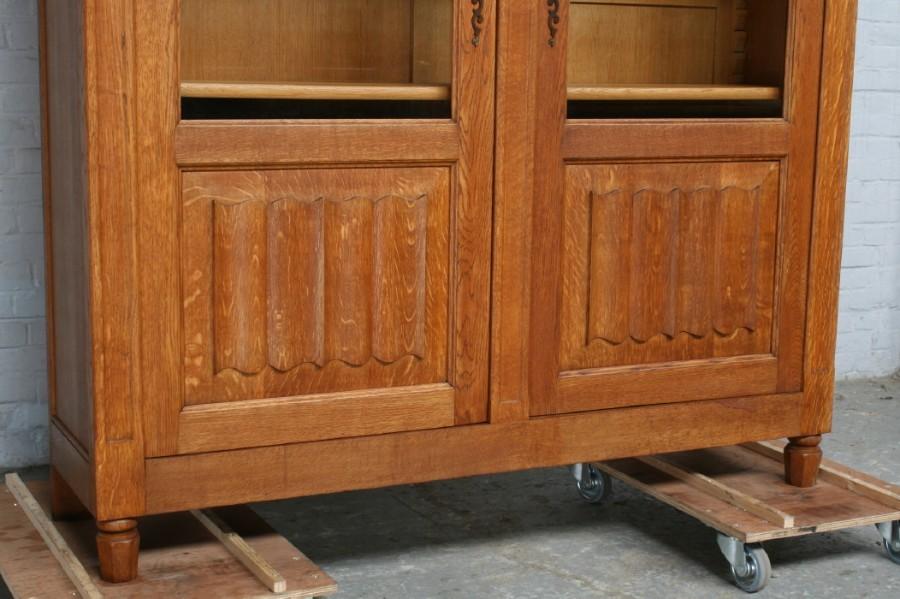 品番6743ヨーロッパ市場在庫品アンティーク家具ダイニング9点セット現地在庫商品1940年代ベルギー原産オーク製_画像8
