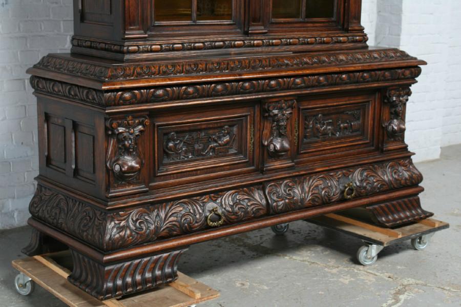 品番1695ヨーロッパ市場在庫品アンティーク家具ダイニング9点セット現地在庫商品1920年代ベルギー原産オーク製_画像9