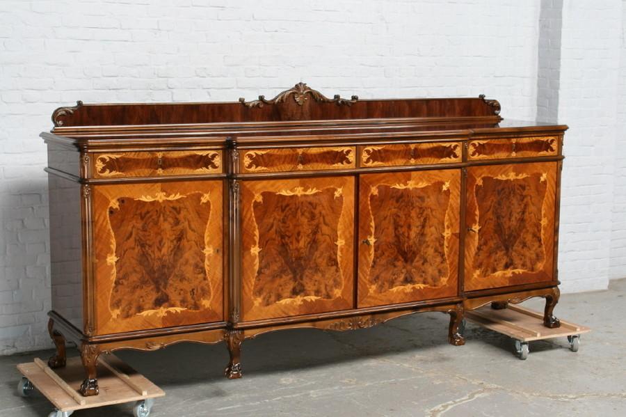 品番7181ヨーロッパ市場在庫品アンティーク家具ダイニング9点セット現地在庫商品1940年代ベルギー原産ウォールナット製_画像9