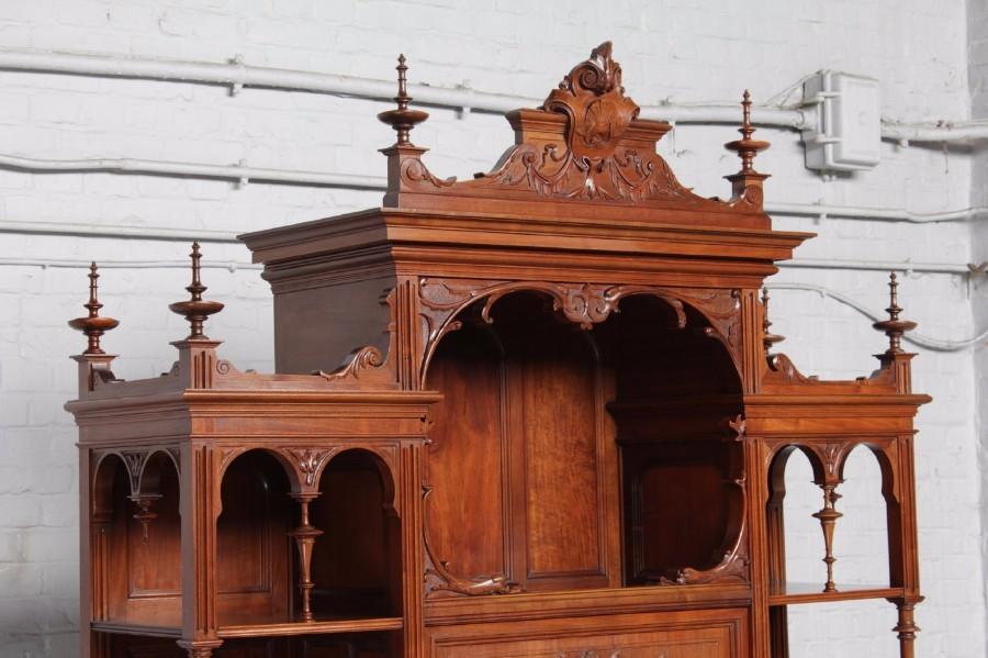品番8023ヨーロッパ市場在庫品アンティーク家具ダイニング10点セット現地在庫商品1900年代ベルギー原産ウォールナット製_画像3