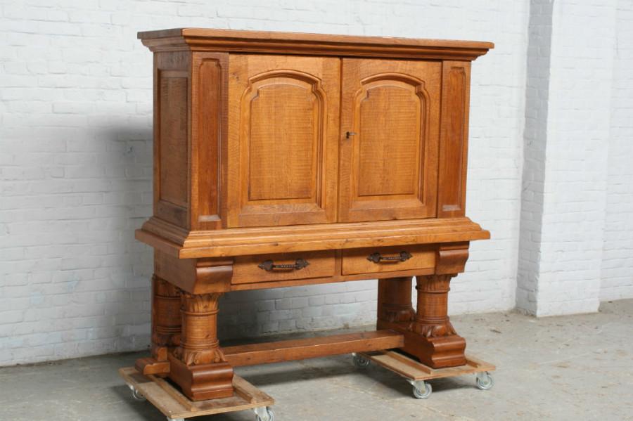 品番6905ヨーロッパ市場在庫品アンティーク家具ダイニング9点セット現地在庫商品1920年代フランス原産オーク製_画像6