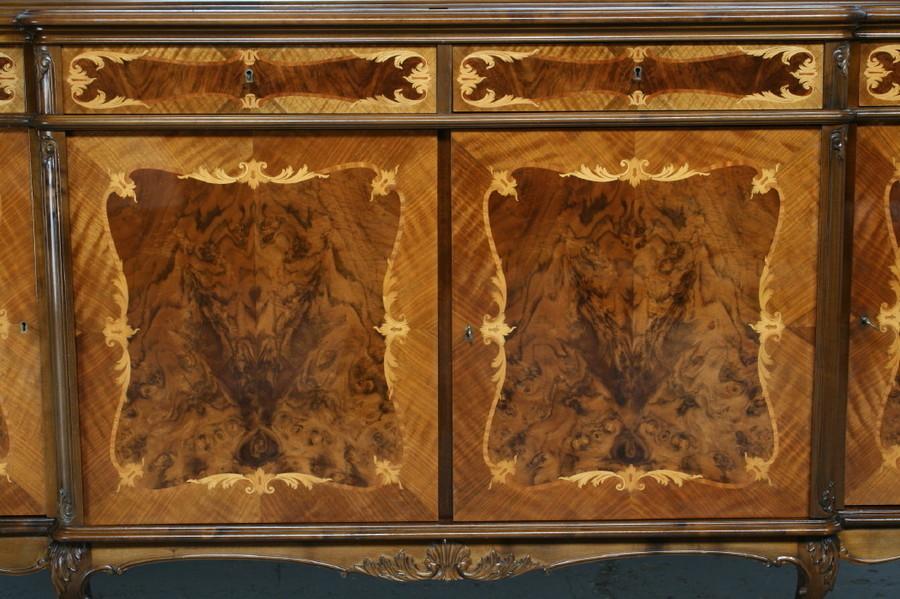 品番7181ヨーロッパ市場在庫品アンティーク家具ダイニング9点セット現地在庫商品1940年代ベルギー原産ウォールナット製_画像6