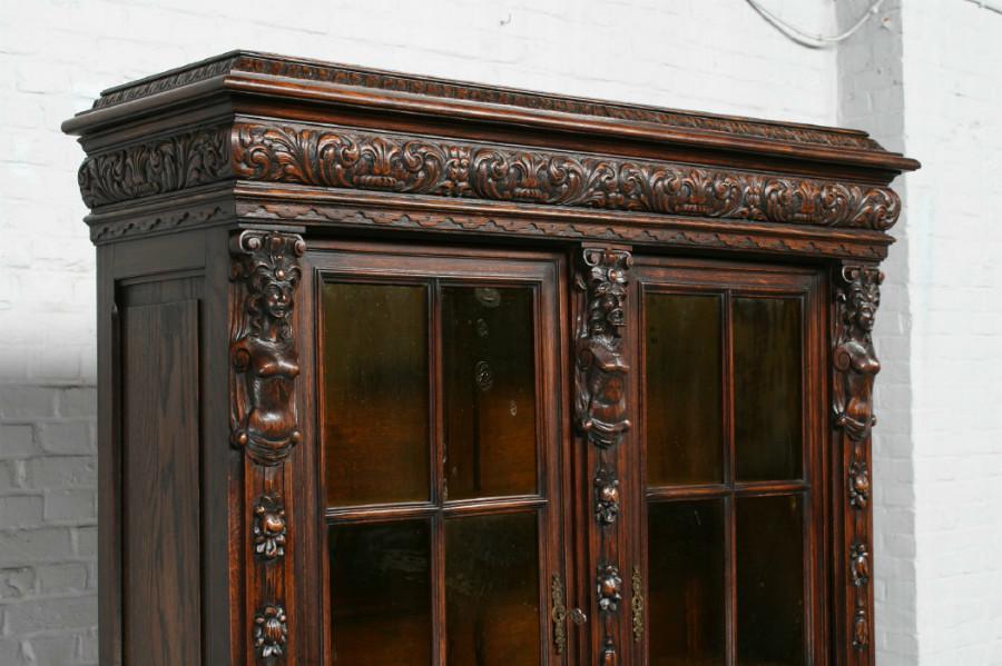 品番1695ヨーロッパ市場在庫品アンティーク家具ダイニング9点セット現地在庫商品1920年代ベルギー原産オーク製_画像8