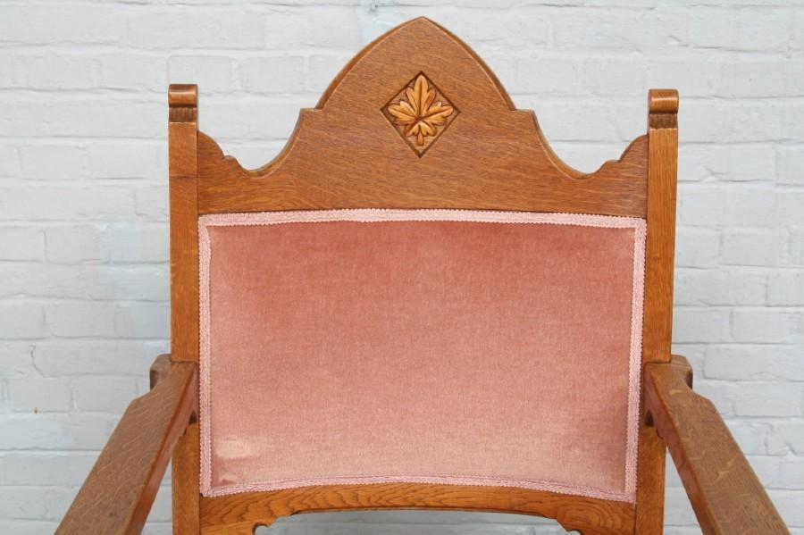 品番6743ヨーロッパ市場在庫品アンティーク家具ダイニング9点セット現地在庫商品1940年代ベルギー原産オーク製_画像10