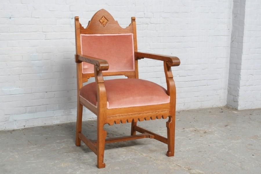 品番6743ヨーロッパ市場在庫品アンティーク家具ダイニング9点セット現地在庫商品1940年代ベルギー原産オーク製_画像9