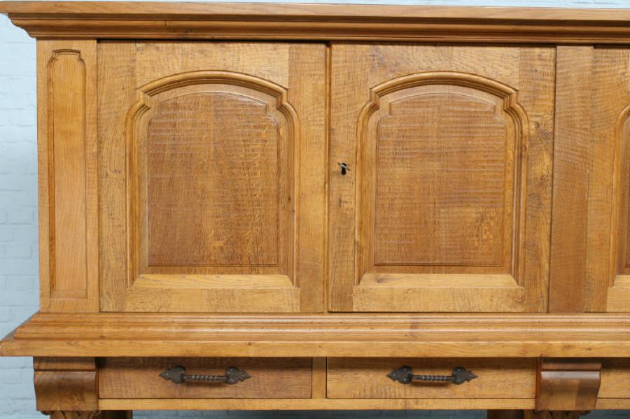 品番6905ヨーロッパ市場在庫品アンティーク家具ダイニング9点セット現地在庫商品1920年代フランス原産オーク製_画像5