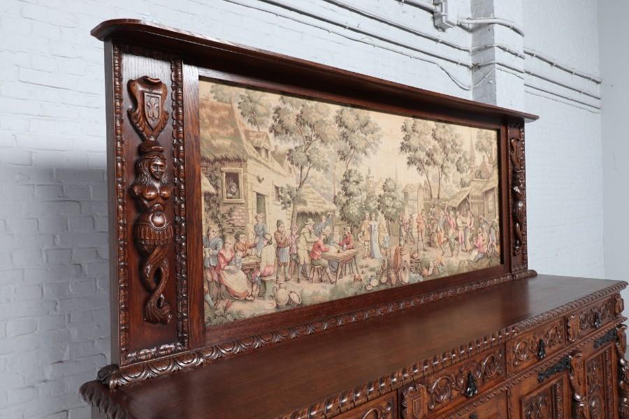品番8980現地在庫販売フランス原産アンティーク家具オーク製ダイニングルーム9点セット1920年_画像3