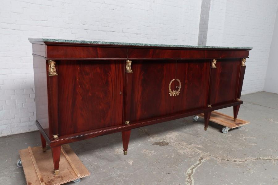 品番8732現地在庫販売フランス原産アンティーク家具マホガニー製ダイニングルーム9点セット1940年_画像2