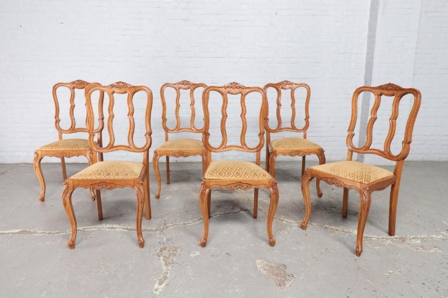 品番8799ヨーロッパ市場在庫品アンティーク家具ダイニング9点セット現地在庫商品1920年代ベルギー原産オーク製_画像10