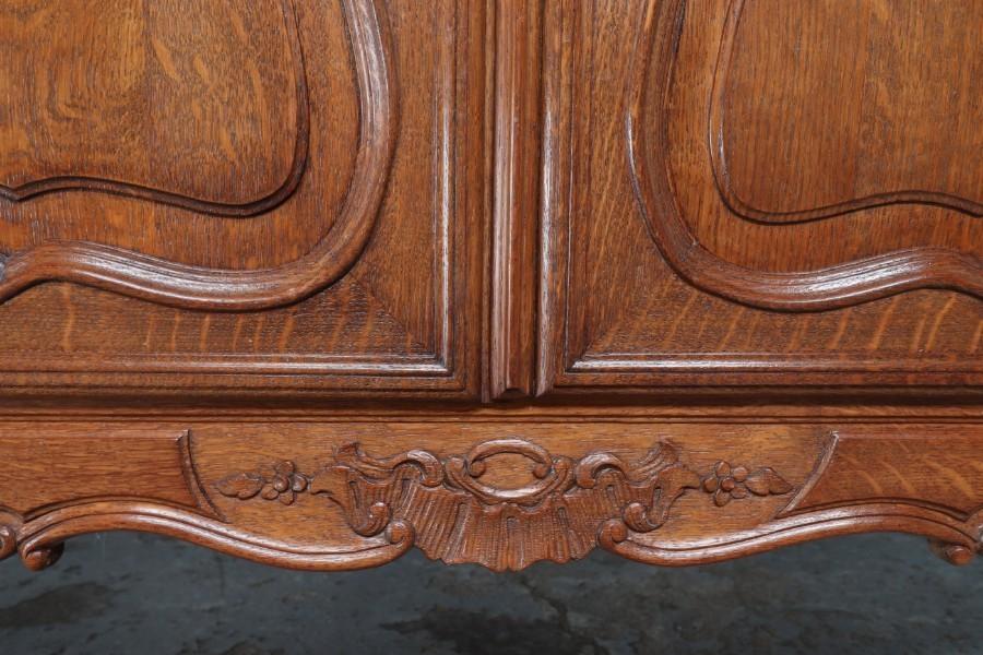 品番8832ヨーロッパ市場在庫品アンティーク家具ダイニング9点セット現地在庫商品1920年代ベルギー原産オーク製_画像9