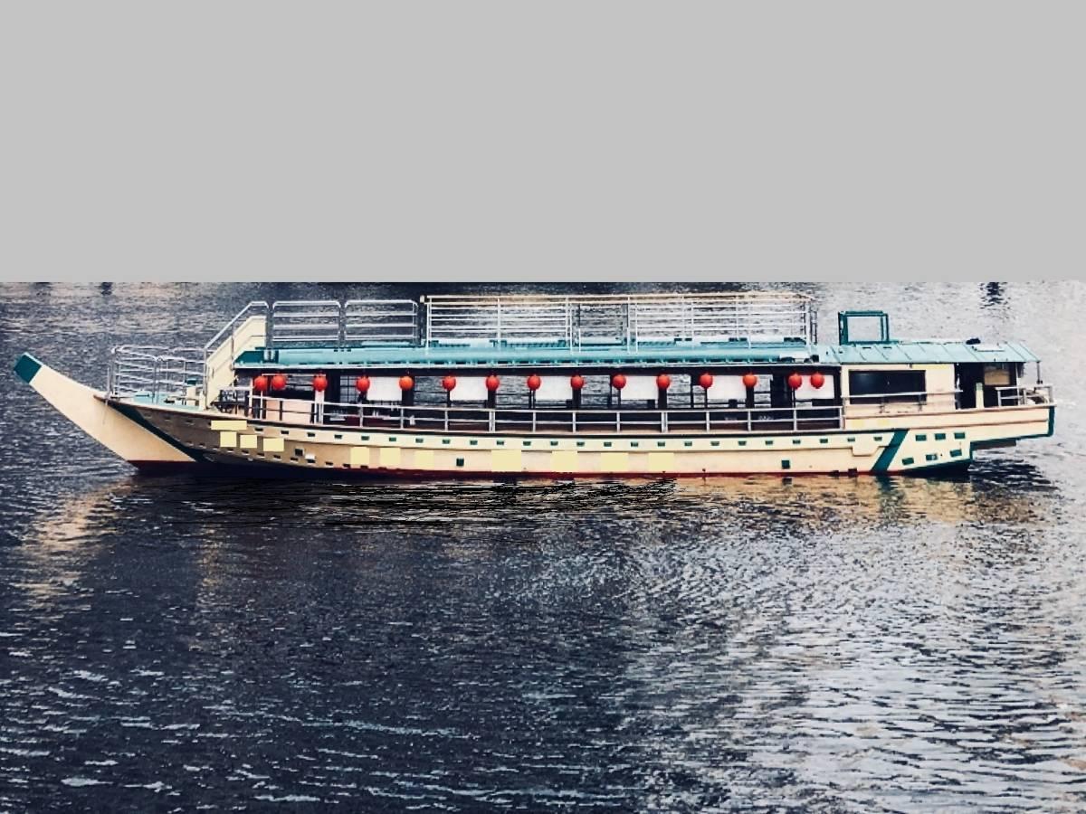 「屋形船 即営業可能です。 定員63人 屋上観覧デッキ」の画像1