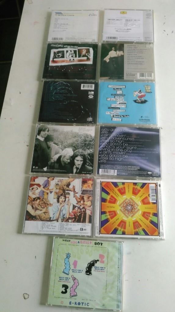 CD、モーツァルト、ヴェートーベン、E-ROTIC 、モダン、James、OCEAN、POTSHOT、Red Hot 、デズリー、グリーン・デイ、クーラ