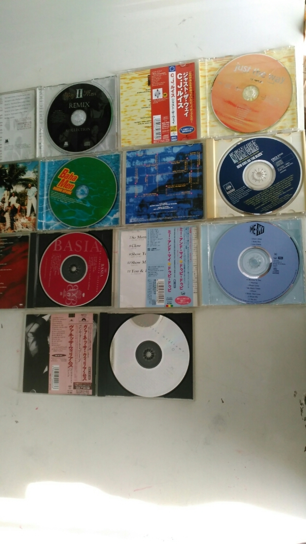 CD合計7枚です、CD BoyzⅡMen THE REMIX、C.J.ルイス、3 Baha Men、NO MORE GAMES、BASIA、ME&MY、Vanessa Williams