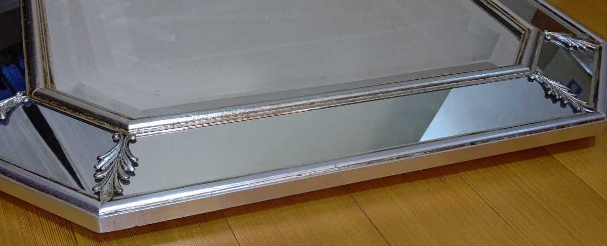 アンティーク調 ウォールミラー 壁掛け 鏡 クラシックスタイル ロココ調 レトロ 中古 送料無料 即決_画像5