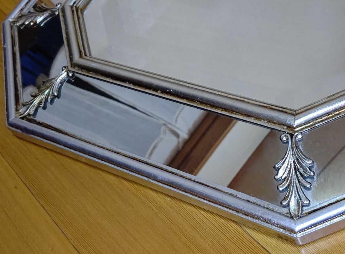 アンティーク調 ウォールミラー 壁掛け 鏡 クラシックスタイル ロココ調 レトロ 中古 送料無料 即決_画像7