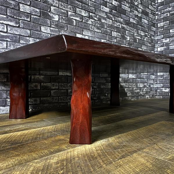 無垢 一枚板 木製 座卓 和風 ロー テーブル 和室 洋室 居間 座敷 机 ちゃぶ台 天然木 木材 インテリア 家具 ディスプレイ 札幌_画像3