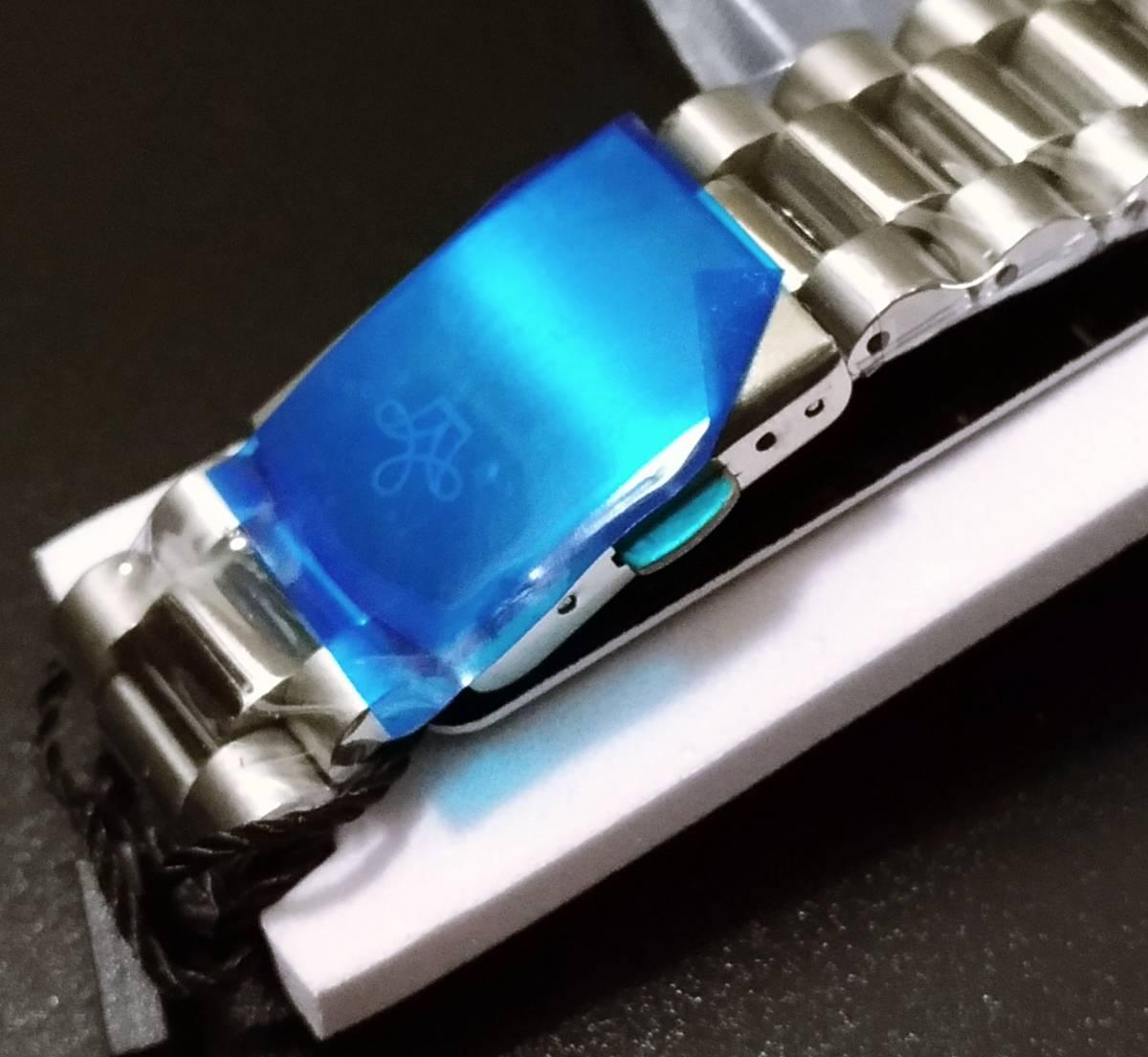 【送料無料】LGXIGE デイデイトスタイル アイスブルー ハイエンド ロレックス系オマージュ ウォッチ 腕時計 高級 メンズ サファイア_画像5