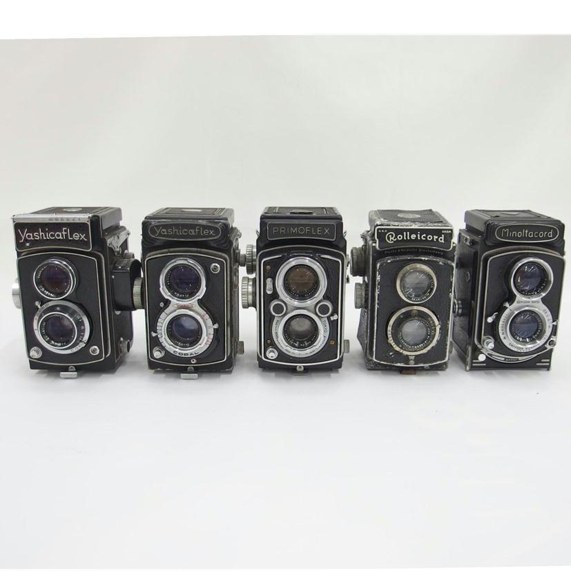 1円【ジャンク】 二眼レフカメラ 5台セット YASHICA FLEX/YASHICA FLEX/PRIMO FLEX/ROLLEI CORD/MINOLTA CORD 【82】