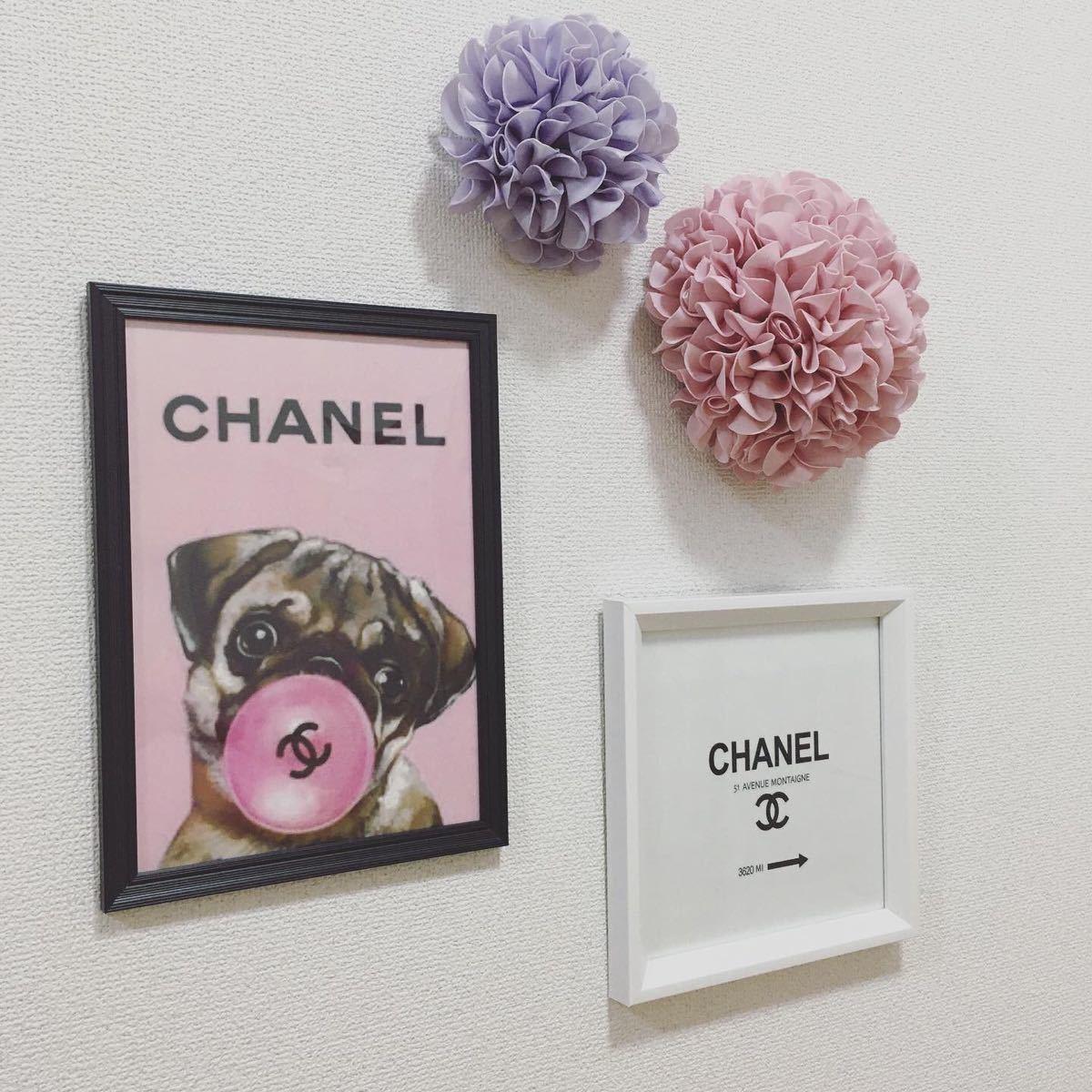 アートポスター A4サイズ  黒フレーム付き 壁掛け