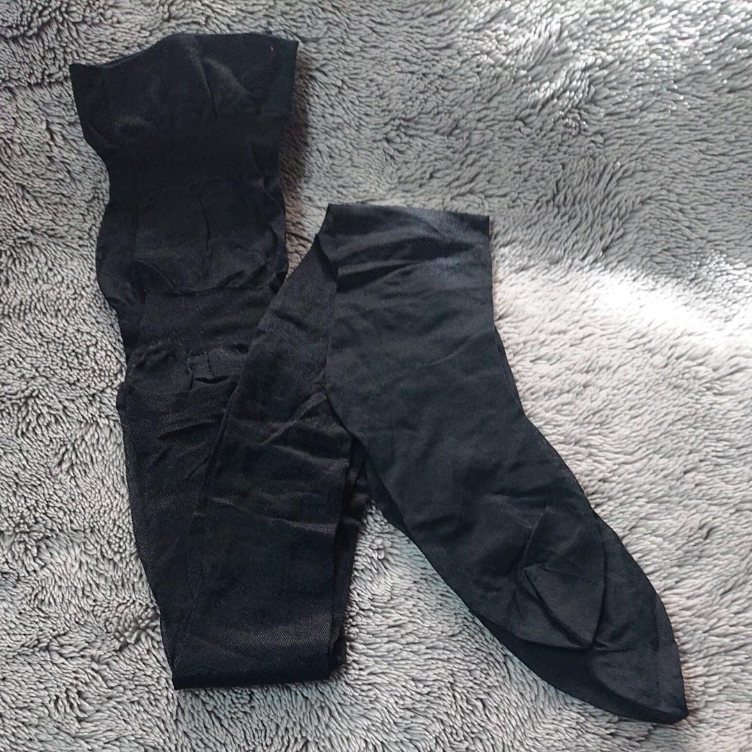 黒タイツ 整理品靴磨き用