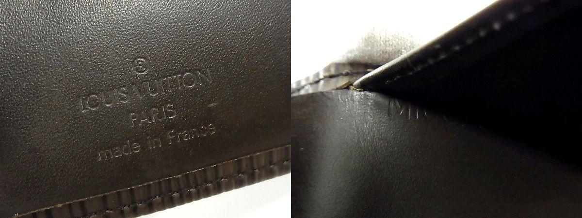 1円■美品■ LOUIS VUITTON ヴィトン M6324D エピ ポルトモネビエヴィエノワ がま口 財布 ウォレット 小銭入れ ダークブラウン系 J2481AL_画像6