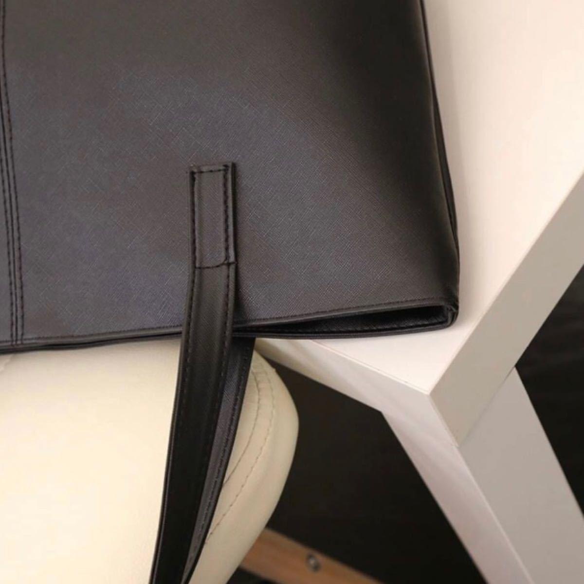 トートバッグ シンプル ビジネス メンズ レディース ブラック