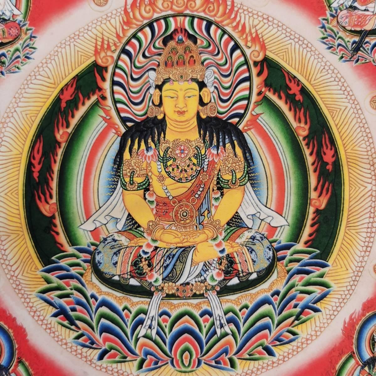 特別配布 胎蔵界 曼荼羅 曼陀羅 マンダラ チベットタントリックタンカ 印刷画  チベット仏像 大判 タンカ インテリア 装飾_画像7