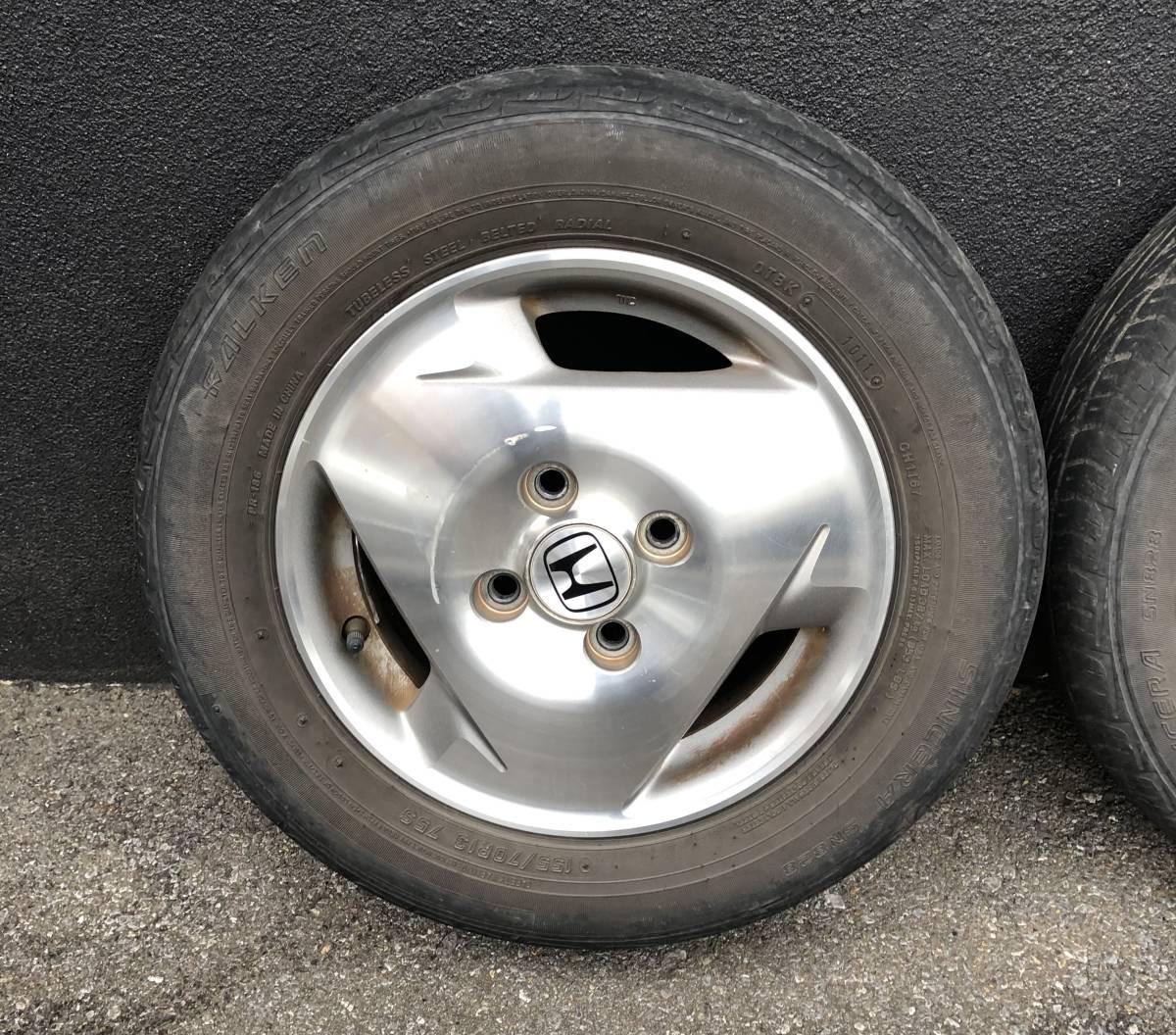 バモス ターボ Sパッケージ タイヤホイールセット 2本 155/70R13_画像2