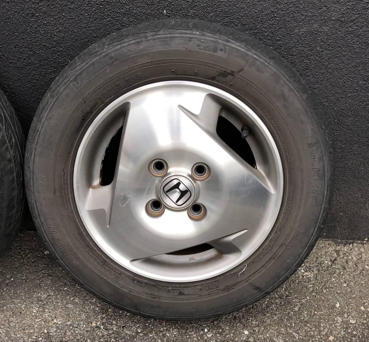 バモス ターボ Sパッケージ タイヤホイールセット 2本 155/70R13_画像3