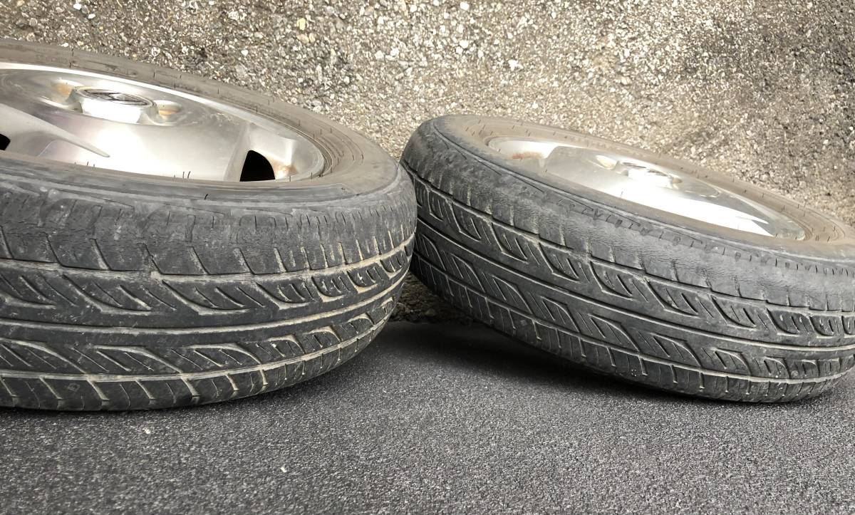 バモス ターボ Sパッケージ タイヤホイールセット 2本 155/70R13_画像4