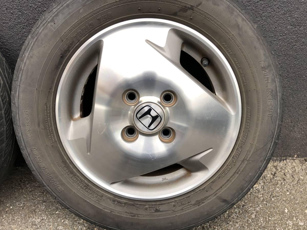 バモス ターボ Sパッケージ タイヤホイールセット 2本 155/70R13_画像7