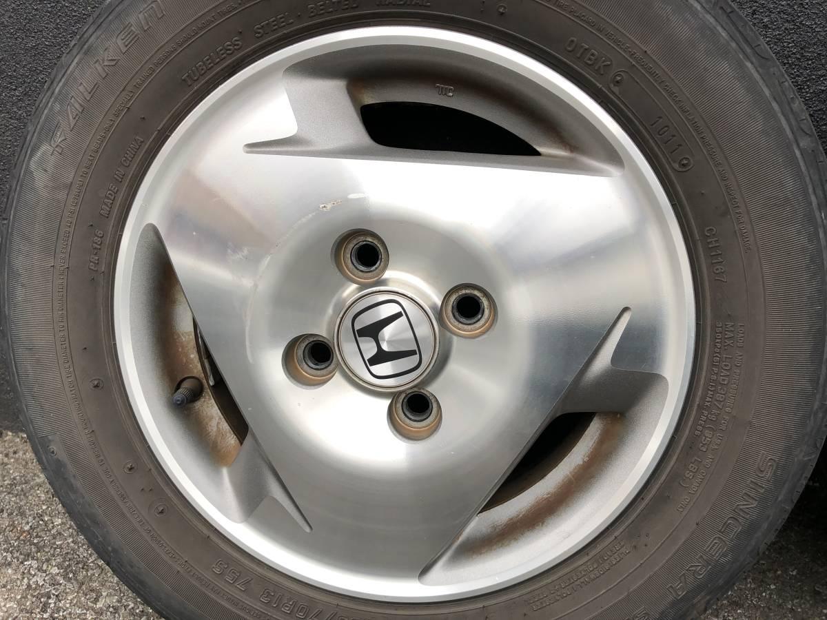 バモス ターボ Sパッケージ タイヤホイールセット 2本 155/70R13_画像8
