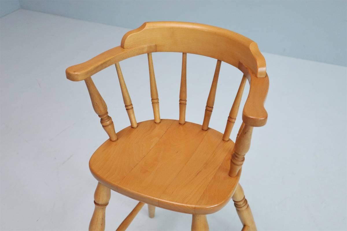 飛騨産業 キツツキ ヴィンテージ ベビーチェア チャイルド キッズ ハイチェア 子供 椅子 ナチュラル / 英国アンティーク 北欧 無印 柏木工_画像2