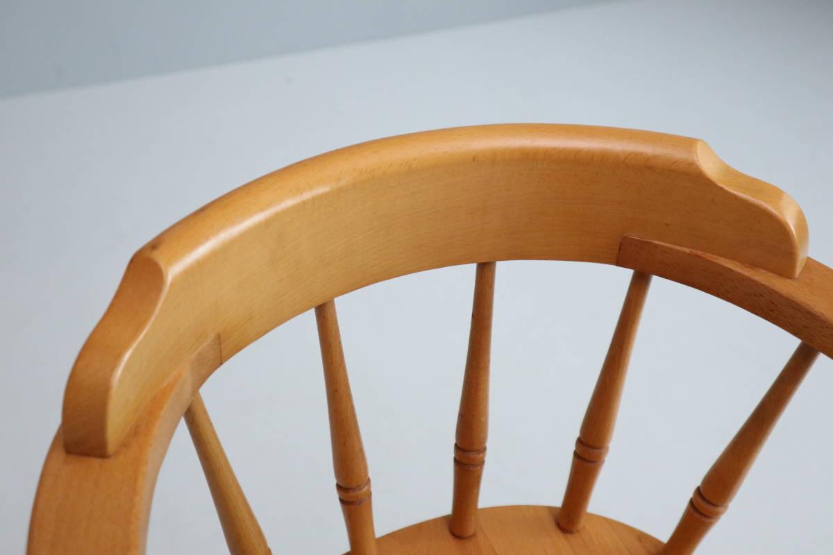 飛騨産業 キツツキ ヴィンテージ ベビーチェア チャイルド キッズ ハイチェア 子供 椅子 ナチュラル / 英国アンティーク 北欧 無印 柏木工_画像3