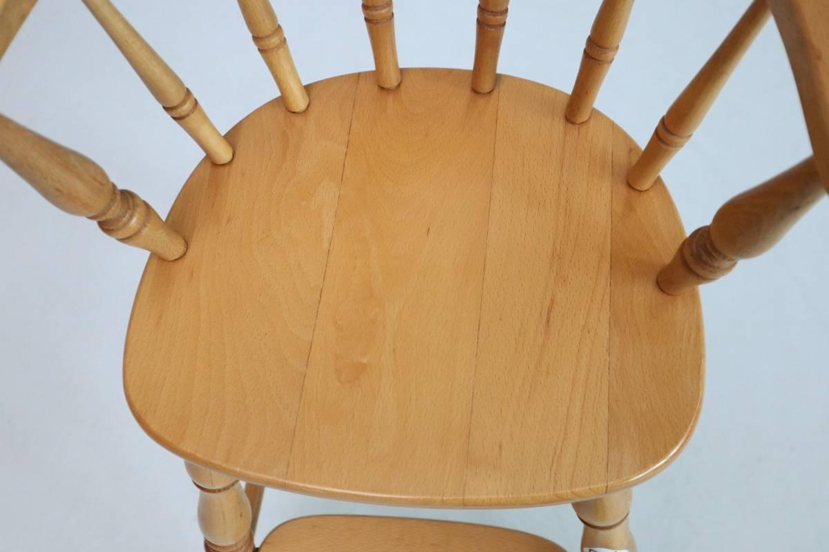 飛騨産業 キツツキ ヴィンテージ ベビーチェア チャイルド キッズ ハイチェア 子供 椅子 ナチュラル / 英国アンティーク 北欧 無印 柏木工_画像4